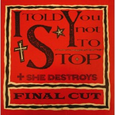 "Final Cut ""I Told You Not To Stop"" Vinyl"